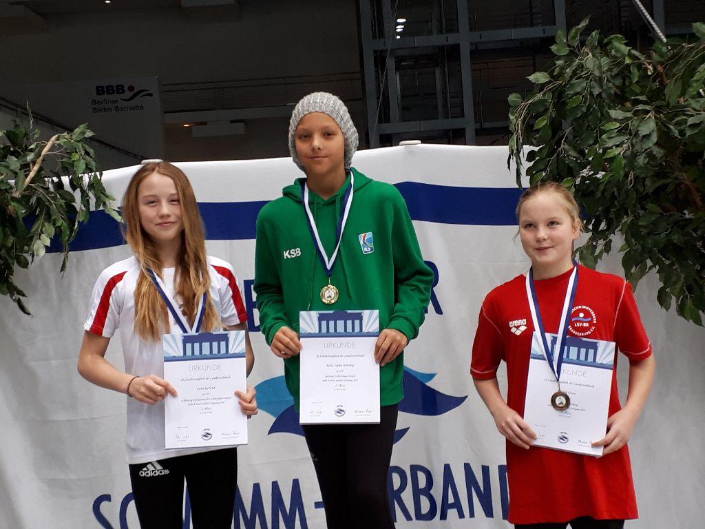 Luisa Gerland als Zweite über 100 Freistil